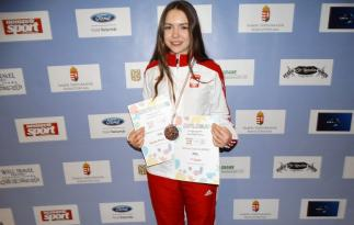 Wiktoria Bober i jej brązowy medal